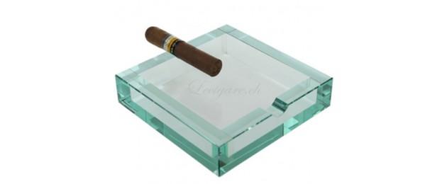 Cendrier en verre carré Adorini Bloq