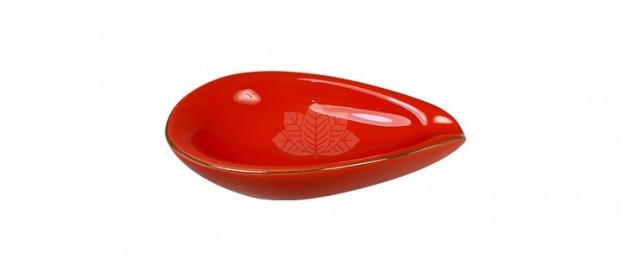Cendrier Adorini Leaf Red